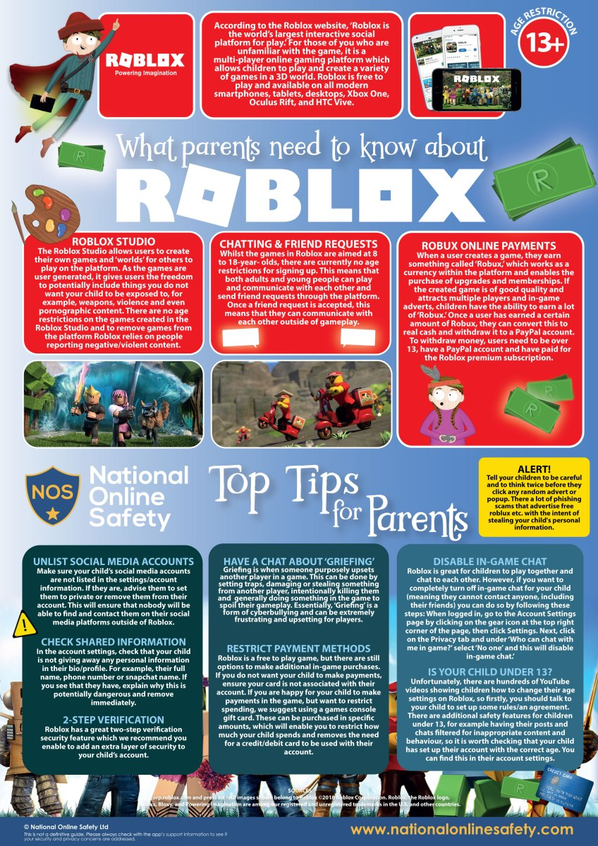 Roblox Parent Guide – Carrick Knowe Primary School